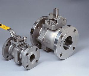 Flow-Tek 4 in. Full Port Flanged Ball Valve with Lever Operator Stainless Steel FF153R113JRL