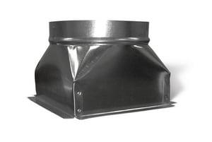Lukjan Metal Products 14 x 14 x 14 in. Square To Round Box SHMSQR1412141214
