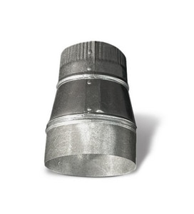 Lukjan Metal Products 7 in. 26 ga Small End Crimped Taper Reducer SHMRC2610