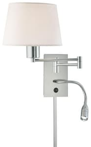 George Kovacs George's Reading Room™ 15-3/4 in. 100W 1-Light Wall Sconce in Polished Chrome KP478077