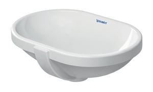 Duravit USA No-Hole Under-Counter Bathroom Lavatory Sink in White Alpin D03364300001