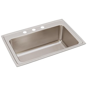 Elkay Gourmet Lustertone® 33 x 22 x 11-5/8 in. Single Bowl Top Mount Sink EDLRS332212