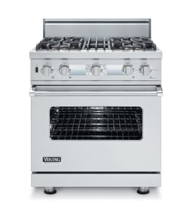 Viking Range 30 in. 4-Sealed Burner Dual Fuel Self Cleaning Range in Stainless Steel VVDSC5304BSSLP
