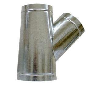 Snappy 8 in. x 7 in. 26 ga Galvanized Steel Stub Wye SHMYS26XWS