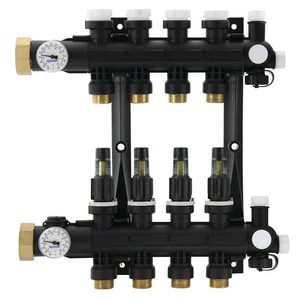 Uponor North America EP Heating Manifold Assembly with Flow Meters UA267001