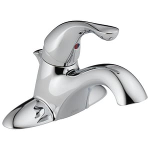Delta Faucet Classic® 1.5 gpm Centerset Lavatory Faucet with Single Lever Handle with Metal Drain Pop-Up D520MPUDST