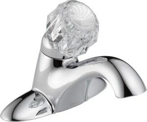 Delta Faucet Classic Centerset Lavatory Faucet with Knob Handle D502DST