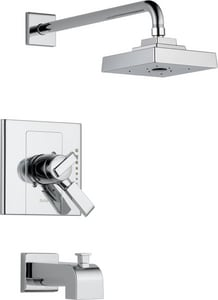 Delta Faucet Arzo® 2 gpm Balance Tub and Shower Trim with Double Lever Handle (Trim Only) DT17486
