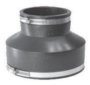 Fernco 6 x 4 in. Clay x Cast Iron and Plastic Flexible Coupling F100264WC