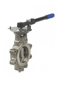 Milwaukee Valve HP Series 150 psi Stainless Steel Lug Lever Operator Butterfly Valve MHP1LSS4212