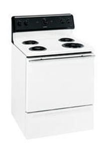 General Electric Appliances Hotpoint® 46-1/2 x 29-7/8 in. 5 cf 4-Burner Freestanding Electric Range GRB525DP