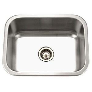 Houzer Medallion 18 ga Single Bowl Undercounter Kitchen Sink HMS23091