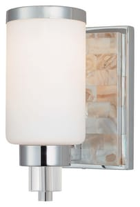 Minka Cashelmara™ 100 W 6 in. 1-Light Medium Wall Sconce in Polished Chrome M324177