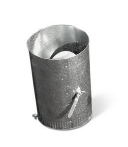 Lukjan Metal Products Round Damper Sleeve with Standoff SHMDSSO