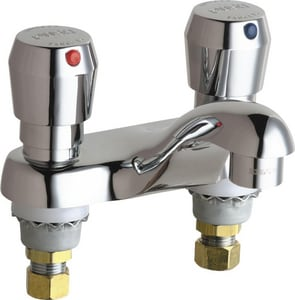Chicago Faucet Metering Faucet with Metering Handles Polished Chrome C802V665ABCP