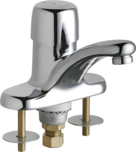 Chicago Faucet Centerset Single Supply Metering Sink Faucet in Polished Chrome C3400ABCP