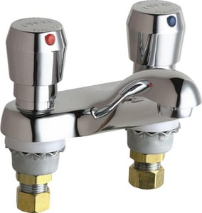 Chicago Faucet 2.2 gpm Metering Faucet with Double Metering Handle in Polished Chrome C802665ABCP