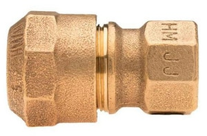 Mueller Company CTS x FIP Brass Straight Coupling MH15451N