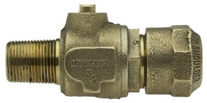 Mueller Industries 1-1/2 in. MIP x Compression Ball Corporation Stop MB25028NJ