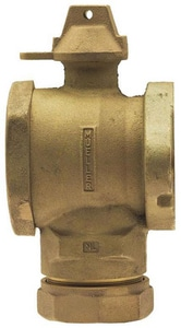 Mueller Company Angle Meter Ball Valve with Lock Wing MB24276N