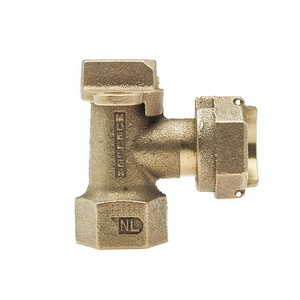 Mueller Industries 1 x 1 in. FIP x Meter Brass Angle Stop MH14265NG