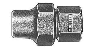 Mueller Company Copper Flared Nut x FIP Brass Coupling MH15450N