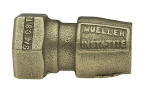 Mueller Industries Female Flare x CTS Brass Straight Coupling MH15074N