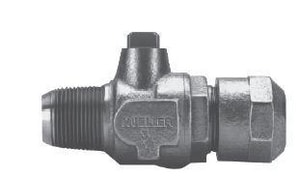 Mueller Company 300 psi CC x CTS Compression Ball Corporation Valve with T-Head MB2500800NG
