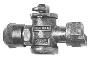 Mueller Industries 3/4 x 3/4 in. CTS Compression x Meter Straight Valve MH14350NF