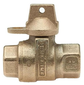 Mueller Industries 1-1/2 in. FIP Ball Valve with Lockwing MB20200NJ
