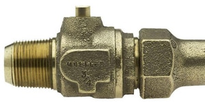 Mueller Industries 1 in. CC x Flared Ball Corporation Stop Valve MB25000NG