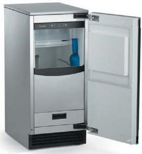 Scotsman Industries 50-lb Undercounter Outdoor Ice Maker With Pump in Stainless Steel SSCCP50MA1SS
