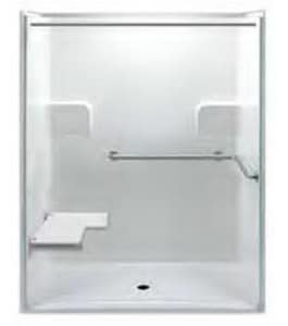 Aquarius Industries 60 x 60 in. ADA Shower with Left Hand Seat AG6233BFLP3PK