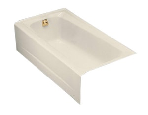 Kohler Mendota® 16-1/4 x 60 x 32 in. 45 gal Alcove Bathtub with Left Hand Drain K505
