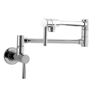 Newport Brass East Linear 1-Hole Wall Mount Pot Filler Faucet with Double Lever Handle N9485