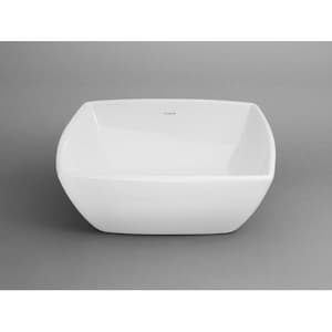Ronbow 16-7/8 in. Square Ceramic Vessel R200004WH