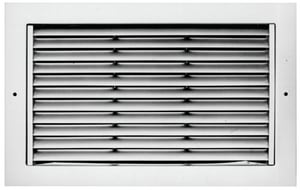 Metalaire 12 x 12 in. Bar Type Return White with Opposed Blade Damper MRH1121201OBD