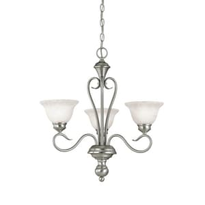 Millennium Lighting Devonshire® 100 W 3-Light Medium Chandelier with Faux Alabaster M6173SN