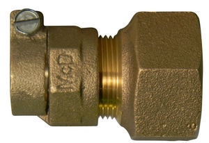 A.Y. McDonald CTS Compression x Flared Brass Straight Coupling M7475522F