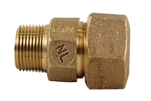 A.Y. McDonald CTS Compression x MIP Brass Straight Coupling M74753T