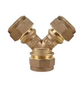 A.Y. McDonald Compression Brass Wye Branch M708YSQQ