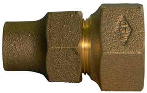A.Y. McDonald FIP x Female Flared Brass Straight Coupling M74755F