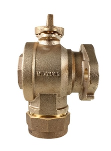 A.Y. McDonald 1 in. CTS Compression x Angle Ball Valve M74612BQG