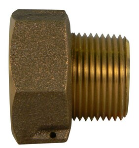 A.Y. McDonald Meter Brass Reducing Coupling M74628HGK