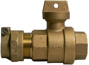 A.Y. McDonald 2 in. CTS Compression x FNPT Brass Curb Stop M7610222K
