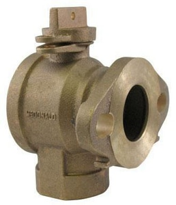 A.Y. McDonald FIP x Meter Flanged Ball Angle Valve with Lock Wing M74604B