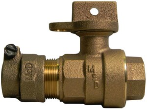 A.Y. McDonald 3/4 in. CTS Compression x FIP Brass Ball Valve Curb Stop M76102W22FEF