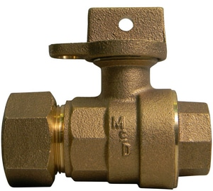 A.Y. McDonald 3/4 in. CTS Compression x FNPT Light Weight Curb Stop Brass Ball Valve M76102WTF