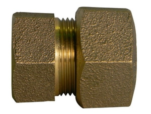 A.Y. McDonald CTS Compression x FIP Brass Straight Coupling M74754T