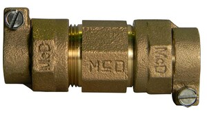 A.Y. McDonald 3/4 x 1 in. IPS x PEP Compression Steel Brass Union M7475833FG
